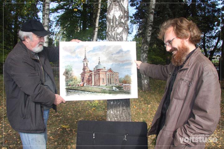 Картина с видом храма