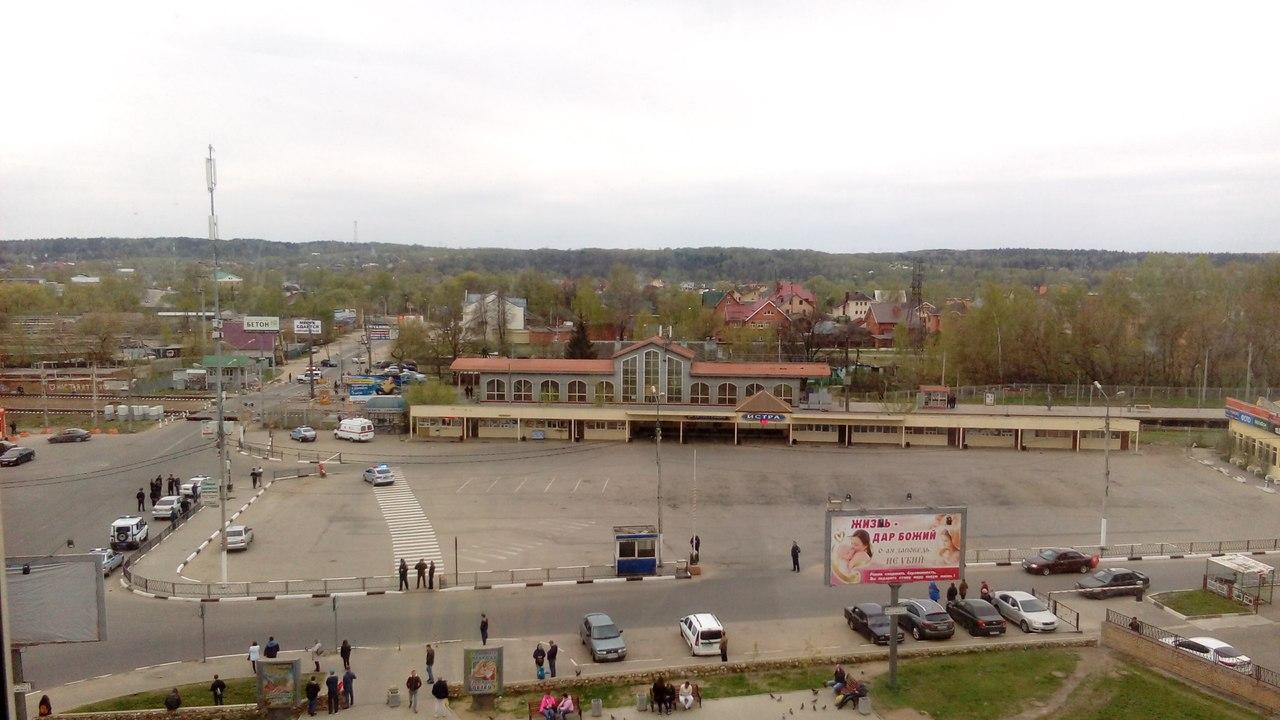 В Истре оцеплена железнодорожная станция